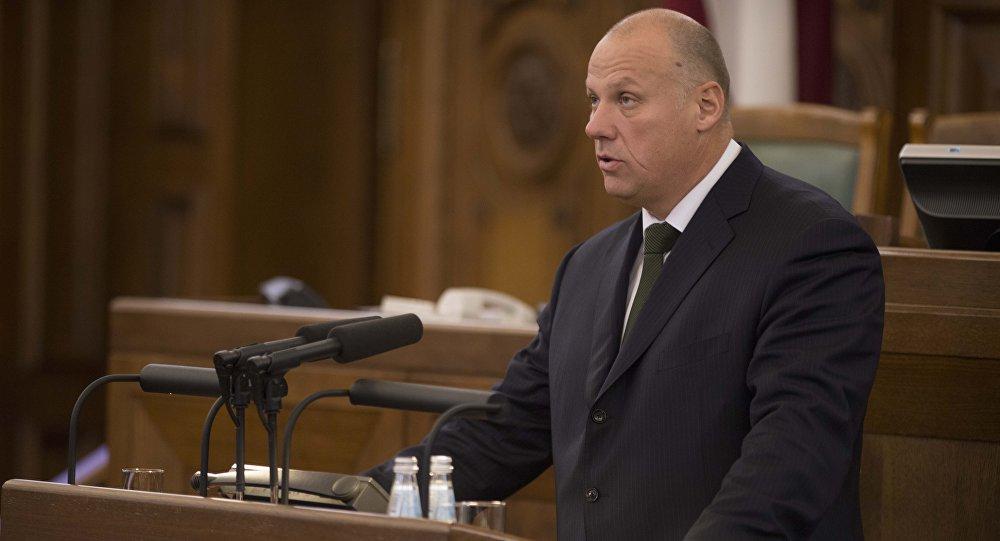 Latvijas aizsardzības ministrs Raimonds Bergmanis. Foto no arhīva