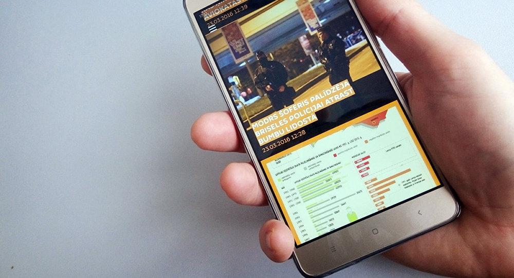 Мобильное приложение Sputnik Латвия в телефоне