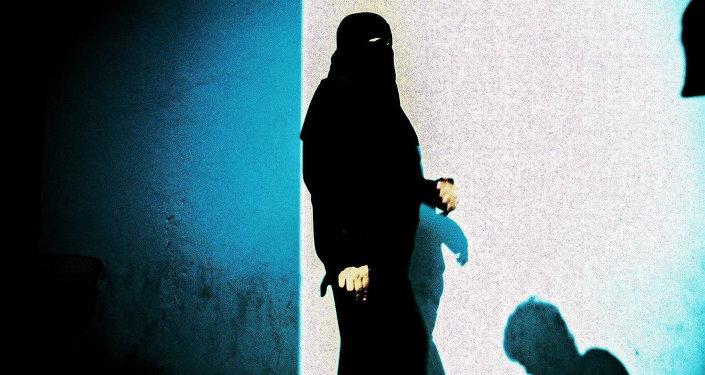 Мусульманка в хиджабе