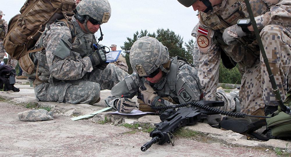 Совместные учения войск Латвии с войсками НАТО. Архивное фото