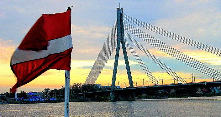 Флаг Латвии, архивное фото