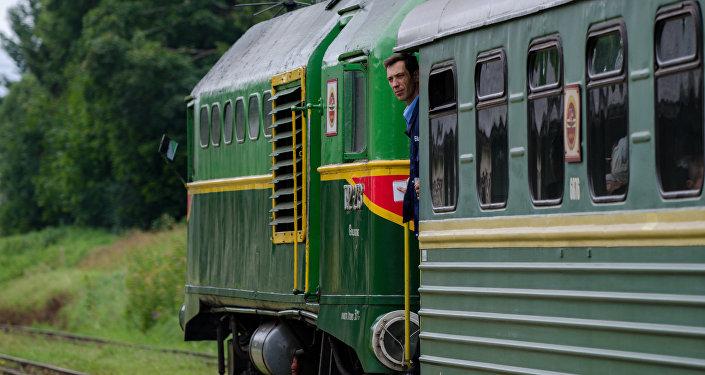 поезд в Латвии. Архивное фото