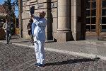 Турист в Латвии