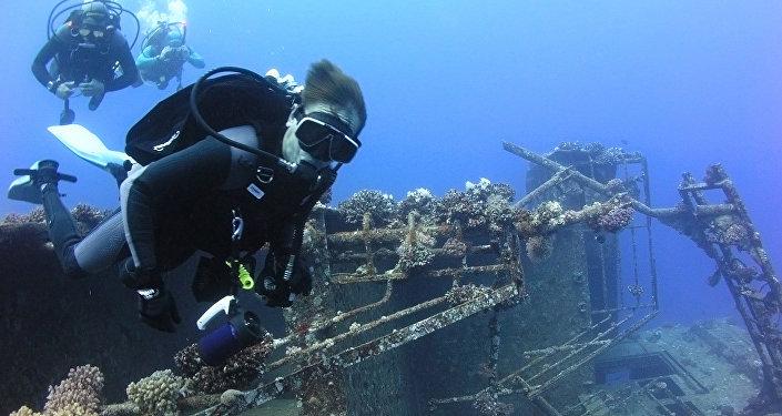 Сергей Семенов на дне Балтийского моря – пока еще не было запрета там нырять