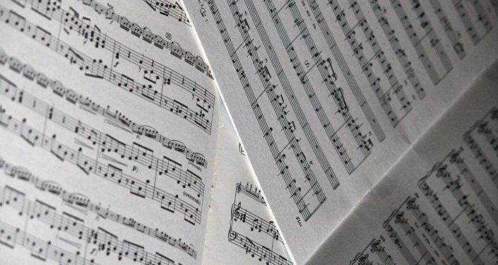Музыкальные ноты, архивное фото