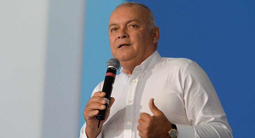 Informatīvās aģentūras Rossija segodņa ģenerāldirektors Dmitrijs Kiseļovs. Foto no arhīva