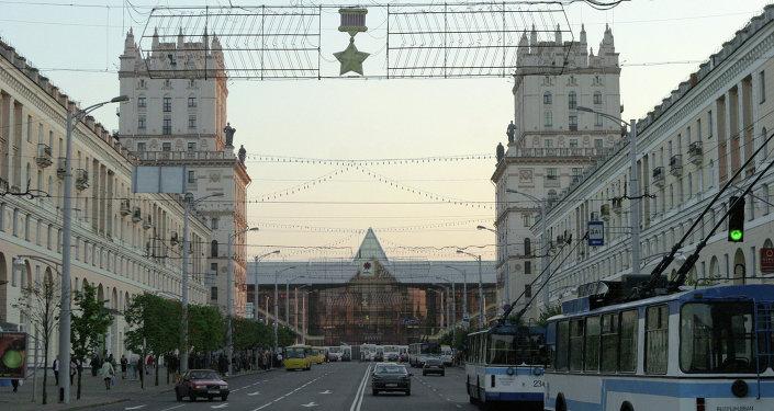 Dzelzceļa stacija Minskā. Foto no arhīva