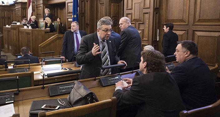 Latvijas Saeimas sēde. Foto no arhīva