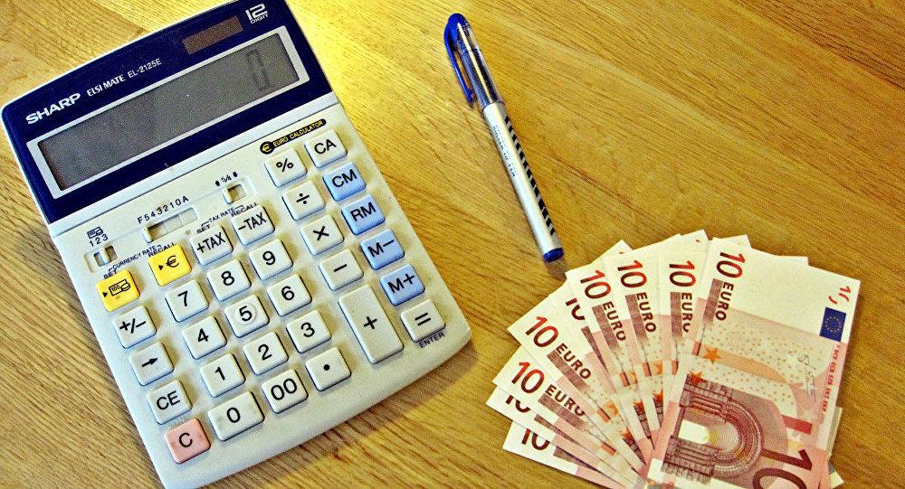 Kalkulātors un eiro naudas zīmes. Foto no arhīva