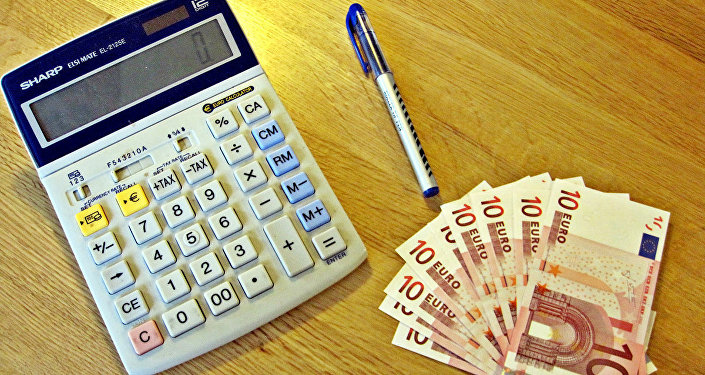 Kalkulators un Eiro. Foto no arhīva