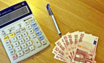 Kalkulators un eiro naudaszīmes