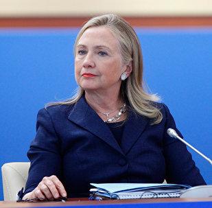 ASV prezidenta vēlēšanu demokrātu kandidāte Hilarija Klintone