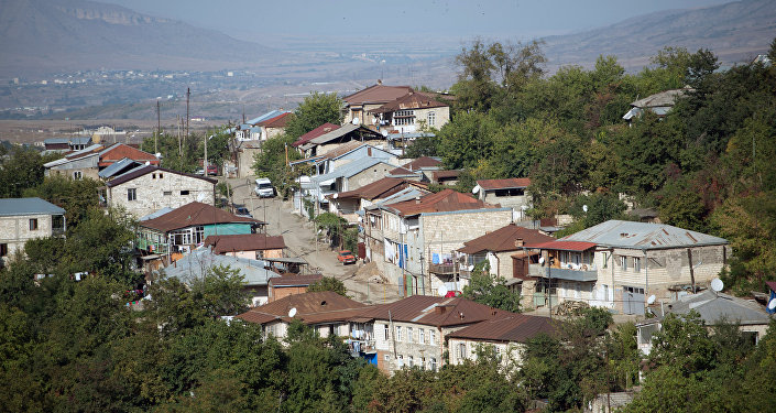 Город Степанакерт самопровозглашенной Республики Нагорный Карабах. Архивное фото