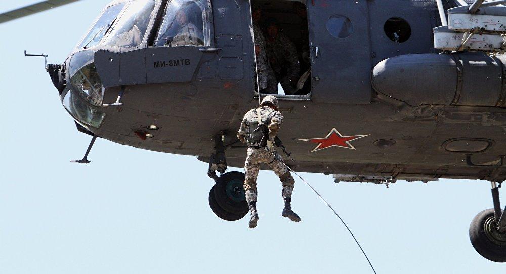 Krievijas desanta vienības karavīri