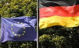 Eiropas Savienības un Vācijas karogi