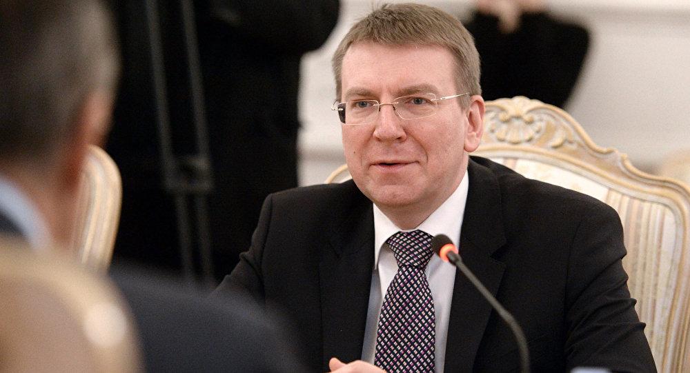 Глава МИД Латвии Эдгарс Ринкевичс. Архивное