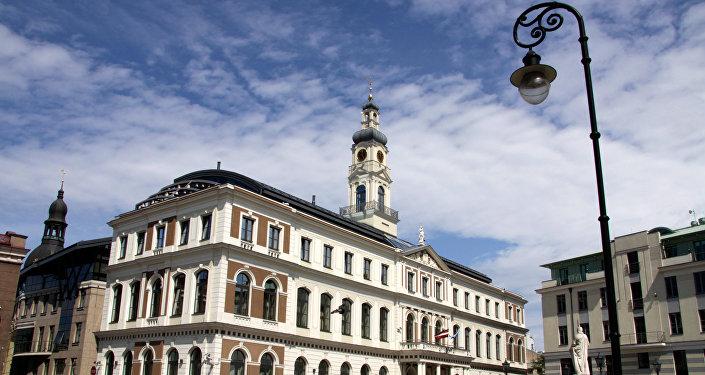 Здание городской Думы в Риге. Архивное фото