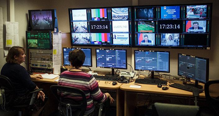 Студия вещания телеканала Россия на страны ближнего зарубежья. Архивное фото