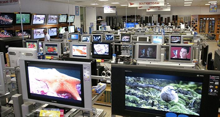 Televizori veikalā. Foto no arhīva