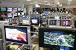 Телевизоры в магазине. Архивное фото