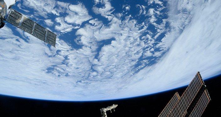 Skats uz Zemi no kosmosa.Foto no arhīva