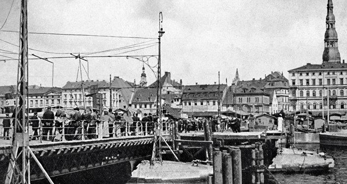 Набережная Даугавы в Риге в начале ХХ века. Архивное фото