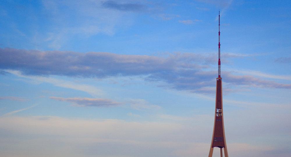 Televīzijas tornis Rīgā. Foto no arhīva