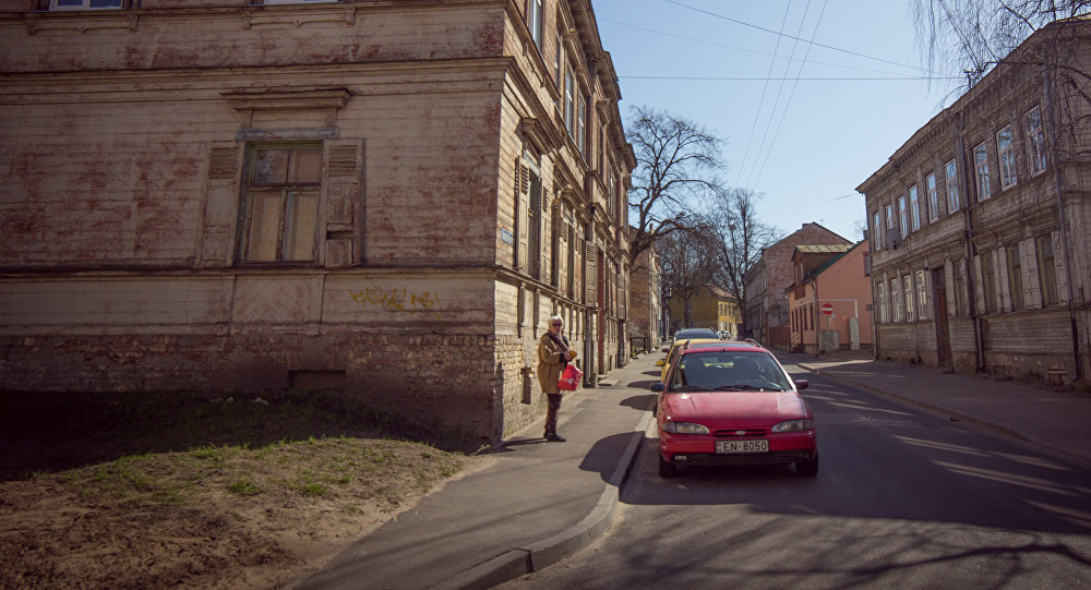 Улица в районе Парадаугва в Риге. Архивное фото