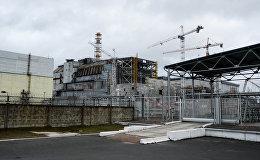 Černobiļas AES ceturtā energobloka sarkofāgs
