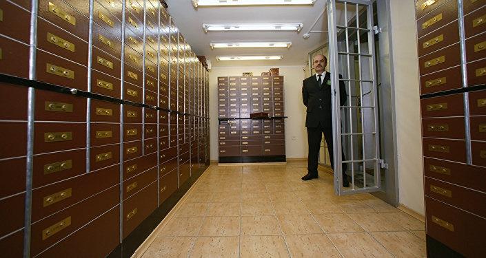 В хранилище банка. Архивное фото