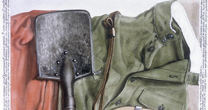 Mākslinieka R.Veneckogo gleznas reprodukcija Mazā sapieru lāpstiņa. Foto no arhīva.