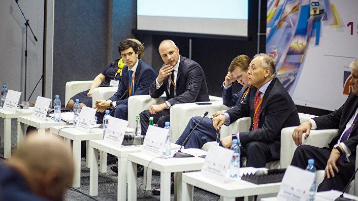 Госсекретарь Министерства сообщения Латвии Каспарс Озолиньш на выставке ТрансРоссия
