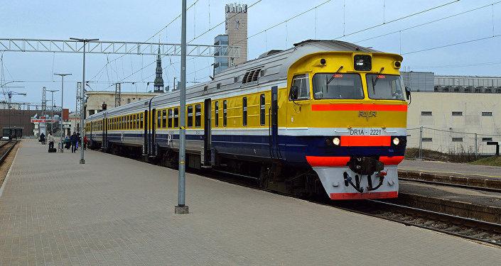 Vilciens Rīgas Centrālajā dzelzceļa stacijā. Foto no arhīva