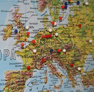 Карта Европы, архивное фото