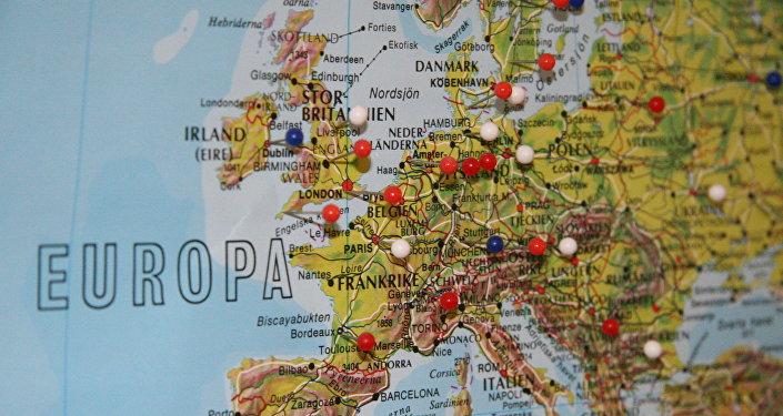 Карта Европы. Архивное фото