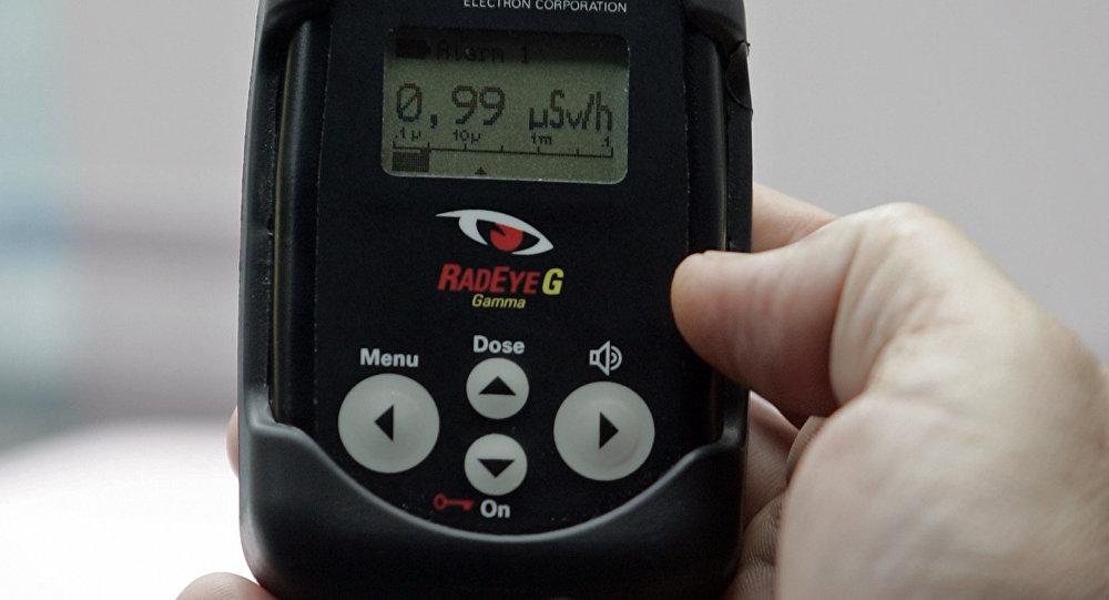 Показатели радиационного дозиметра на территории АЭС