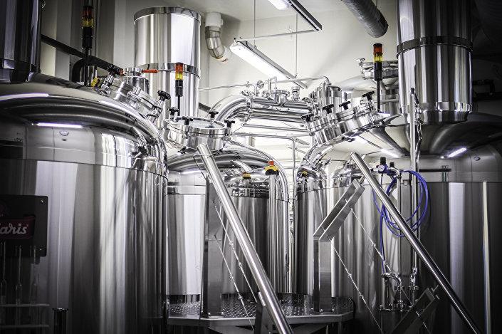 На пивоваренном производстве Aldaris