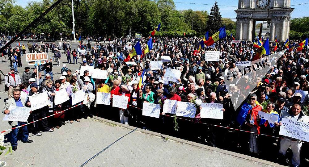 Акция протеста в Кишиневе, 24 апреля 2016
