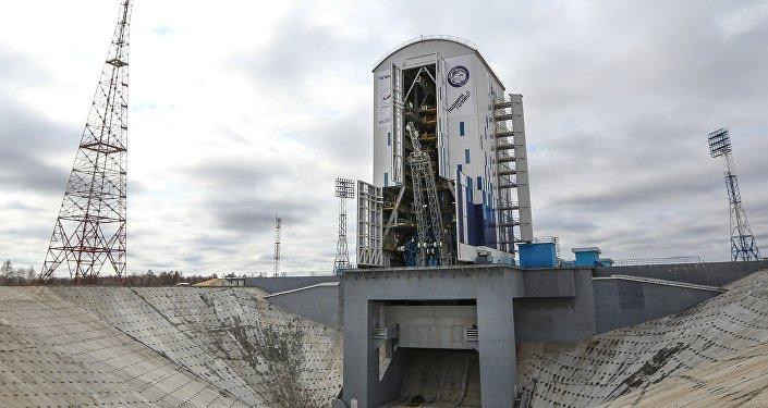 Ракета-носитель Союз-2.1а на стартовой площадке космодрома Восточный