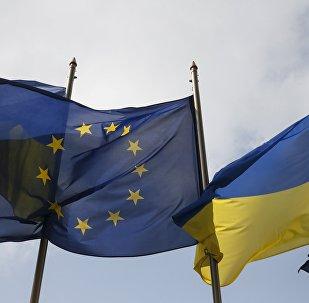 Ukrainas un ES karogi
