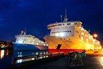 Паромы Scottish Viking и Stena Flavia в порту Вентспилса