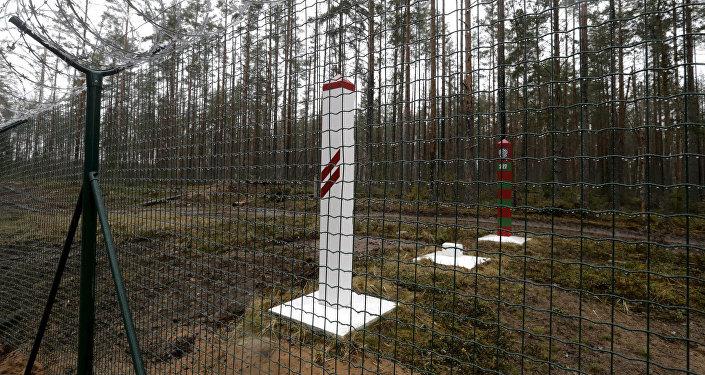 На границе Латвии и России