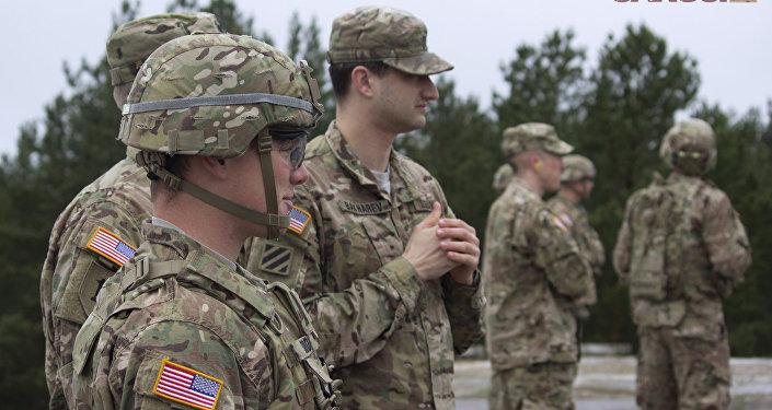NATO karavīri Ādažu poligonā. Foto no arhīva