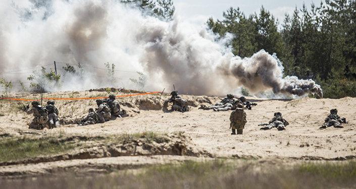 NATO karavīri Ādažos. Foto no arhīva