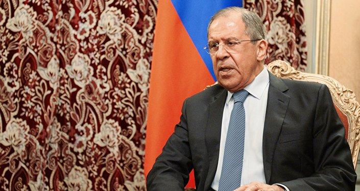 Krievijas Ārlietu ministrijas vadītājs Sergejs Lavrovs