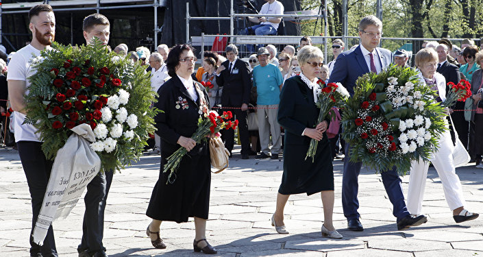 Празднование 9 мая в Риге