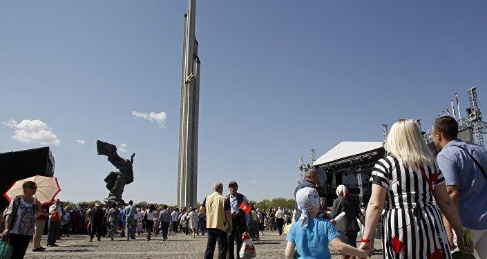 9. maija svētki Rīgā. Foto no arhīva