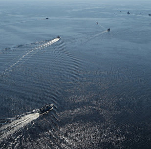 NATO kuģi Baltijas jūrās mācību laikā. Foto no arhīva