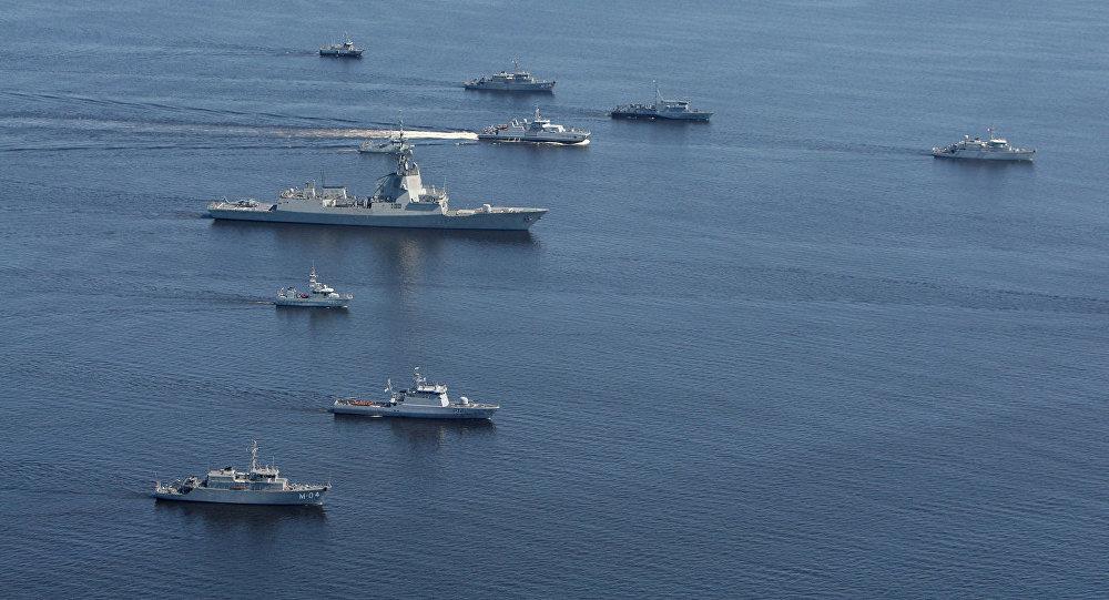 NATO kuģi Baltijas jūrā mācību laikā. Foto no arhīva