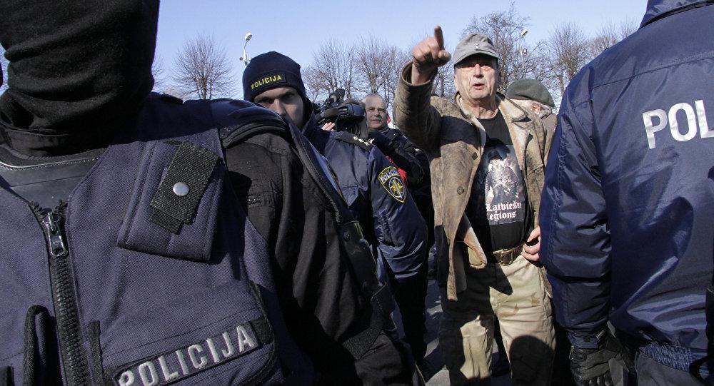 Rīgā SS Leģionāru dienā policija strādās pastiprinātā režīmā. Foto no arhīva